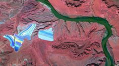 Settling ponds of Intrepid Potash mine, Moab, Utah. Daily Overview: Captivating Satellite Images of Earth | Yatzer