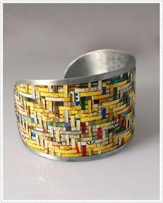 Recycled tin bangle, India
