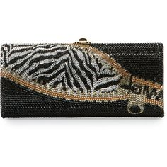 Judith Leiber Couture Replacements Cylinder Crystal Evening Clutch Bag ($2,336) ❤ liked on Polyvore featuring bags, handbags, clutches, champagne, handbags clutches, zebra print purses, handbag purse, special occasion handbags, crystal purse and evening hand bags