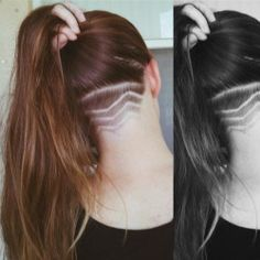 womens shaved head designs - Google Search
