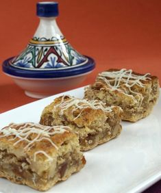 Pastel de dátiles y nueces Lebanese Recipes, Turkish Recipes, Apple Cinnamon Rolls, Arabian Food, Cake Servings, Restaurant Recipes, No Bake Desserts, Sweet Recipes, Bakery