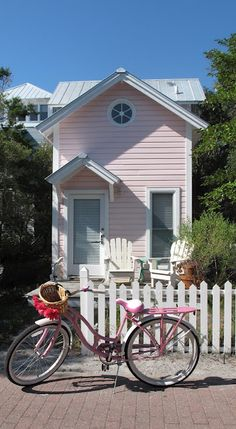 Precious Pink Cottage & Pink Cruiser by Italian Girl in Georgia