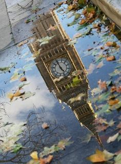 Reflection, Big Ben, London, England photo via aria Reflection Photography, Amazing Photography, Landscape Photography, Reflection Art, Reflection In Water, Cityscape Photography, Big Ben London, London England, Beautiful World
