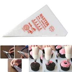 24X Icing Piping Nozzles Disposable Bag Cookies Tips Cake Decorating Tool Metal