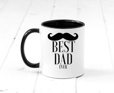 "Show your dad or husband the major love with our ""Best Dad"" 11oz ceramic mug. Double-sided printing. Dishwasher and microwave safe. Shop at www.Inspiremecollections.com   Coffee mug