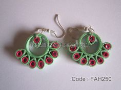 Handmade Jewelry - Paper Quilling Earring (FAH250) (2)