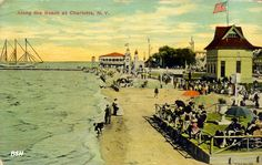 The waterfront at Ontario Beach Park, Rochester, NY
