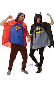 SALE! Adult Superhero Batman Festival Poncho Ladies / Mens Fancy Dress Costume | eBay