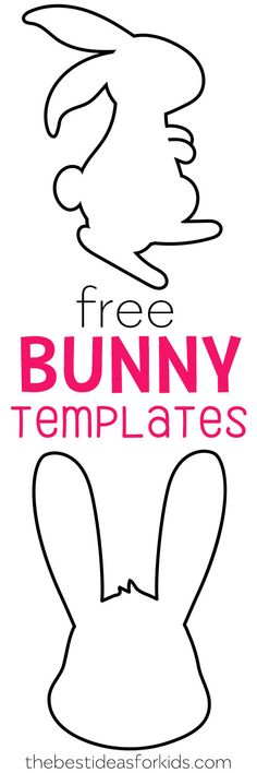 Free Easter Bunny templates - these Easter bunny printables are perfect for crafts, cards and banners. Rabbit template, bunny template, there are 3 designs to choose from! #easter #easterbunny #freeprintables #templates via @bestideaskids