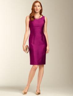 Talbots - Gazar Doupioni Column Dress | Dresses | Misses