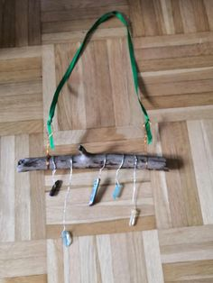A unique decoration for the winter season. Quartz points as icicles hung from wood from the Finnish Lapland. Hang from your door or window to invite holiday cheer, good spirits and energy to your home. Ships quickly from Finland.