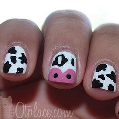 cow #nail #nails #nailart