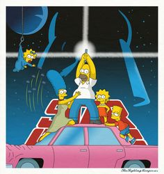 The Simpsons star wars.