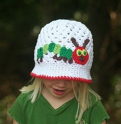 The Very Hungry Caterpillar Crochet Cloche Hat
