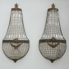 Eloquence Beaded Large Sconces Set of 2 @LaylaGrayce