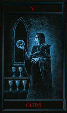 The Gothic Tarot ► Five of Cups