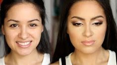 Prom look for smaller eyelids and/or brown eyes. The makeup is beautiful, and we LOVE the inspiring quotes she puts in at the start of each tutorial! #Prom #makeup #carlibybel