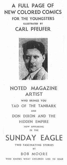 carl pfeufer art | Carl Pfeufer, presented in the Brooklyn Eagle, Nov 27, 1935.