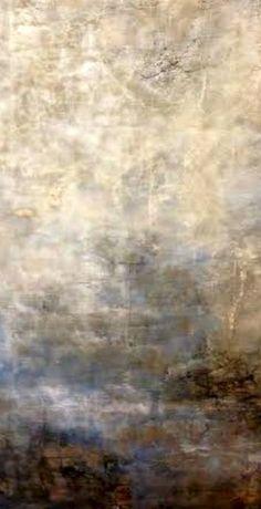 DianaMulder.com plaster on burlap painting