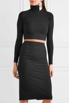 Reformation | Two-piece ribbed-jersey dress | NET-A-PORTER.COM