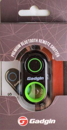 Gadgin Bluetooth Remote Control Camera Shutter Release Selfie Video Photo Green  #Gadgin
