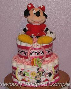 Newborn Minnie Mouse Diaper Cake   Minnie-Mouse-DiaperCakes.JPG - Minnie Mouse Diaper Cake