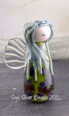 Woodland Fairy by SoulSilver on Etsy Fairy Crafts, Woodland Fairy, Venetian Glass, Beaded Rings, How To Make Beads, Bead Art, Lampwork Beads, Beading Patterns, Glass Art