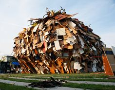 Raumlabor's 'Big Crunch' is an Incredible Building Made from Discarded Materials