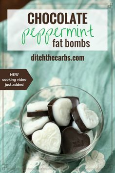 Peppermint fat bombs are the perfect antidote for sweet cravings, but without the sugar. And the magic secret? They will actually keep you full.   ditchthecarbs.com via @ditchthecarbs