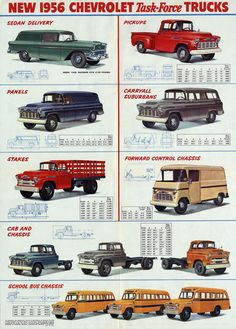 Chevrolet Truck Review New 1956 Chevrolet Task-Force Trucks by http://reviewcars2015.com/