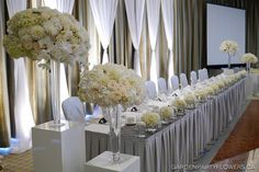Elegant Wedding decor | Elegant Delta Hotel and South Hall Wedding | Garden Party Flowers ...