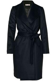 Hallhuber - Wollmantel / klassischer Mantel - schwarz