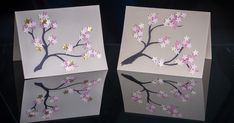 There's something beautifully serene about cherry blossoms. I do not even remember when and where I got this particular paper punch but t. Frame Of Mind, Punch Out, Paper Punch, Paint Chips, Tiny Flowers, I Got This, Craft Supplies, Decorative Boxes, Cherry Blossoms