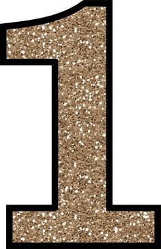 Glitter Without The Mess! Free Digital Printable Glitter Numbers 0 - 9: Glitter Number 1 To Print