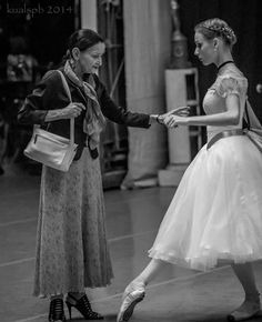 Anastasia Lukina and her teacher Liudmila Kovaleva before 'Conservatory' Photo © Alexander Ku