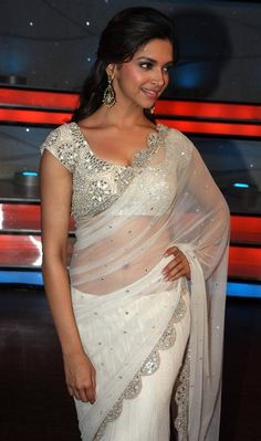 Deepika-Padukone-in-transparent-white-saree