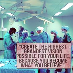Create the highest grandest vision possible for your life. You will become what you believe. #motivation #premed #MCAT #premedlife