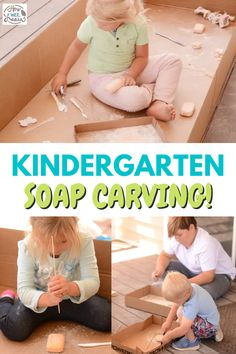 This kindergarten art project is perfect for homeschooling. Grab some bars of soap and a butter knife and help your children learn to create and carve sculptures. There is so much learning that happens with this activity!