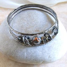 Silver Bangle Bracelets Fine Silver Bangle Set by ElektraJewelry, $120.00