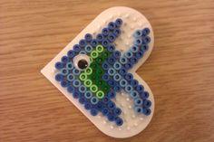 fish made from perler beads Hama Beads Design, Diy Perler Beads, Perler Bead Art, Pearler Beads, Fuse Beads, Melty Bead Patterns, Pearler Bead Patterns, Perler Patterns, Beading Patterns