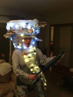 Homemade Sharknado costume my partner and I built this halloween.I won my first costume contest ever! Diy Halloween Costumes For Kids, Halloween 2018, Holidays Halloween, Diy Costumes, Halloween Party, Halloween Ideas, Costume Ideas, Sharknado Costume, Tornado Costume