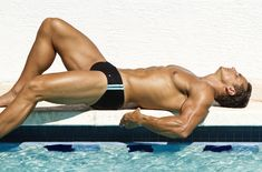 T Fabiano Brasil with Fitness model David Morin, photographed by Dale Stine.