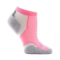 Thorlos Experia Men's / Women's Micro Mini Crew Socks. Smarts: Protects against impact with sculpted Thorlo pads. Available in 16 colors. FootSmart.com