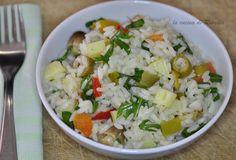 insalata di riso con rucola e sottoli  #lericettedelladomenica