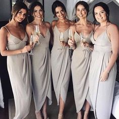 bridesmaids dresses. love the color and cut