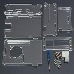 Acrylic Shell With Two Heatsink For Raspberry Pi 2 Model B Rpi B+. Acrylic Shell With Two Heatsink For Raspberry Pi 2 Model B & RPI B    Specification:    Acrylic Clear Case  Compatible with Raspberry Pi2  Figuration Dimension: 92mm x 63mm x 33mm (L x W x H)  ----------------------------------------------------------------------    Package Included:    1 x Clear Acrylic Case  1 x Screwdriver   4 x Screw  4 x Nut  2 x Heatsink