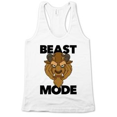 ) While other ladies are at the gym trying to channel their inner Belle you're trying to channel your inner beast. Unleash your beast mode at the gym with this Disney-inspired intimidating Beast Mode white tank! Disney Shirts, Disney Outfits, Cute Outfits, Disney Fashion, Beast Mode Shirt, Run Disney, Disney Workout, Just In Case, Just For You