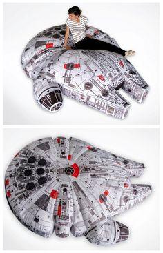 Millennium Falcon Pillow Star Wars Room Poster Geek Bag