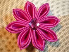 Цветок Канзаши мастер- класс. Осваиваем новые лепестки. / DIY Flowers - YouTube