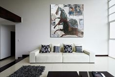 Original Rustic Horse Art / Running Horse Oil Painting / Creative Men Gift…